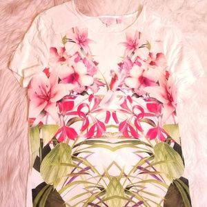 Ted Baker White Floral Print Top